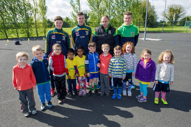 St. Margaret's GAA club members; The Grasshoppers with their coachs, Gareth Hickey, James Hempenstall, Sean Kelly and Gareth Hickey.