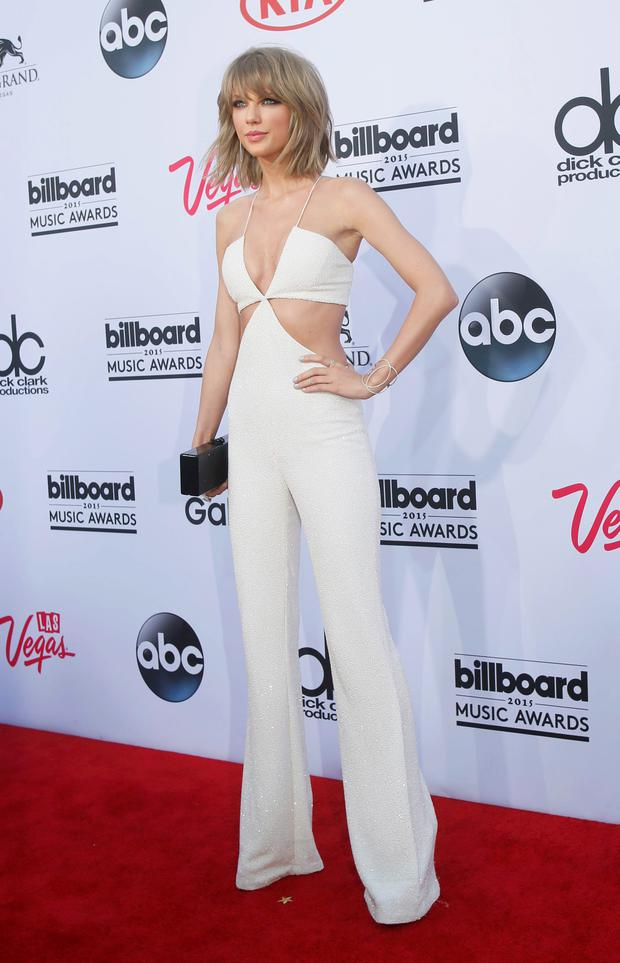 Singer Taylor Swift arrives at the 2015 Billboard Music Awards in Las Vegas, Nevada May 17, 2015. REUTERS/L.E. Baskow