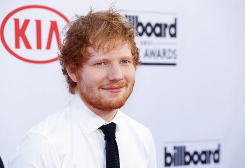 Ed Sheeran arrives at the Billboard Music Awards at the MGM Grand Garden Arena on Sunday, May 17, 2015, in Las Vegas. (Photo by Eric Jamison/Invision/AP)