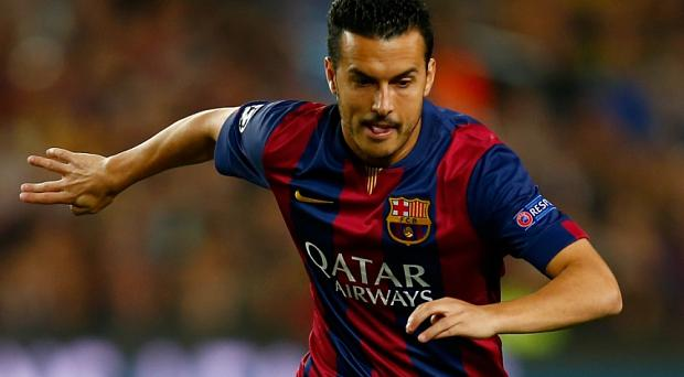 On the radar: Arsenal have been linked with a move for Barcelona winger Pedro Photo: GETTY IMAGES