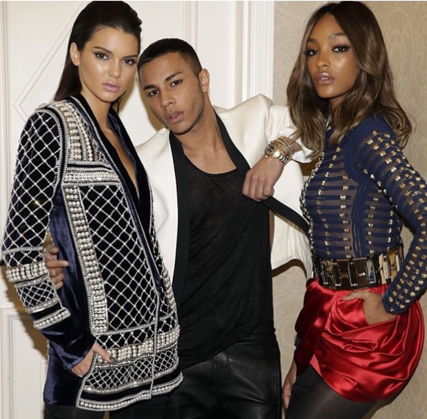 604e55e0 Balmain is collaborating with H&M - and Kendall Jenner is already wearing  the collection