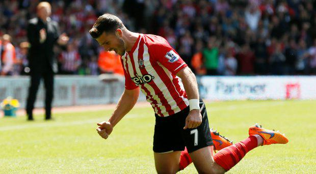 Southampton's Shane Long celebrates scoring their fifth goal