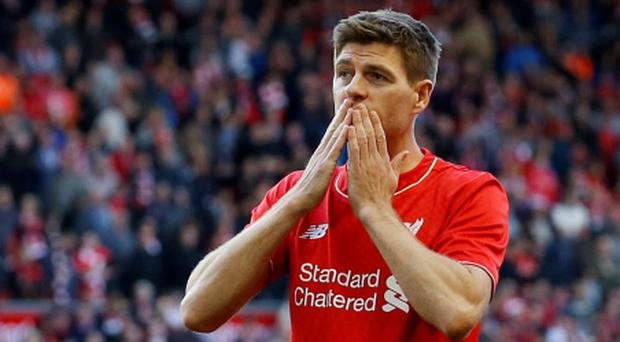Steven Gerrard says goodbye to fans at Anfield