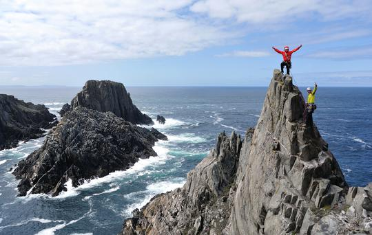On top of the world in Donegal. Photo: Bren Whelan, WildAtlanticWayClimbing.ie