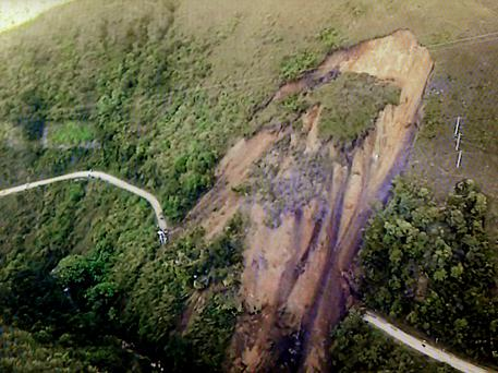 Landslides in Colombia are common following heavy rains Credit: Getty Images