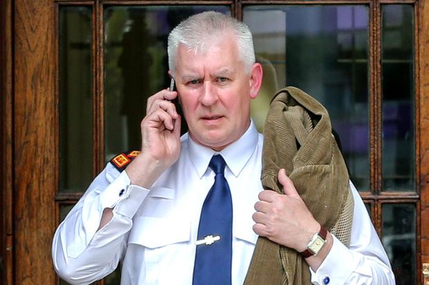 Superintendent Martin Walker, of Kildare Garda Station, leaving the High Court, where he gave evidence in a case involving a bank appointed receiver continues. The farmland is owned by Paul O'Shea. PIC: COURTPIX