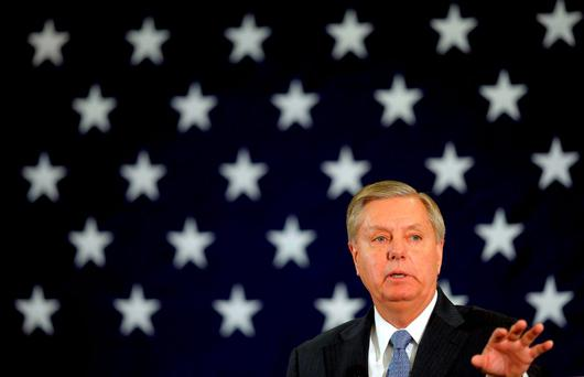 Senator Lindsey Graham, an outspoken critic of US President Barack Obama's withdrawal from the Middle East, has said he wants the Republican nomination for the presidential race in 2016. Photo: Reuters
