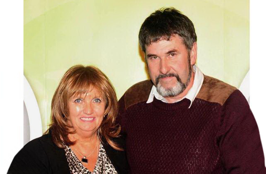 Julia Holmes (63) and her partner Thomas Ruttle (56)
