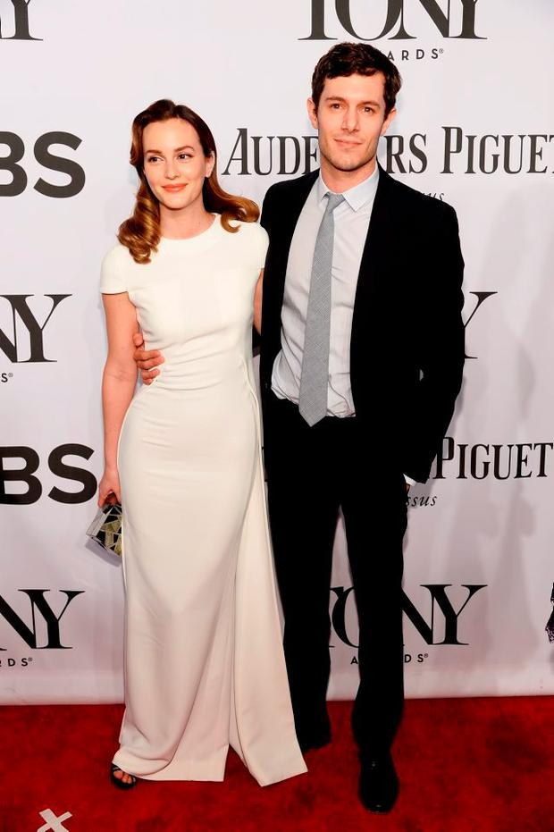 Leighton Meester and Adam Brody attend the 68th Annual Tony Awards at Radio City Music Hall on June 8, 2014 in New York City. (Photo by Dimitrios Kambouris/Getty Images for Tony Awards Productions)