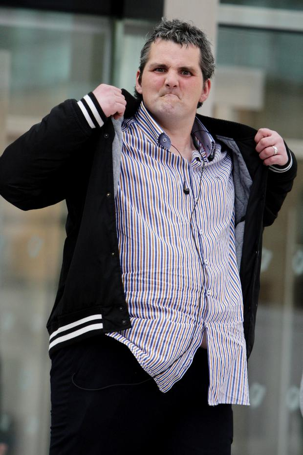 Darren Trimble (35) of Nicholas Street, Dublin, leaving court yesterday (Mon.) after he was given 240 hours of community service for possession of heroin for sale or supply at Heuston Station in April 2013. Pic: Courtpix