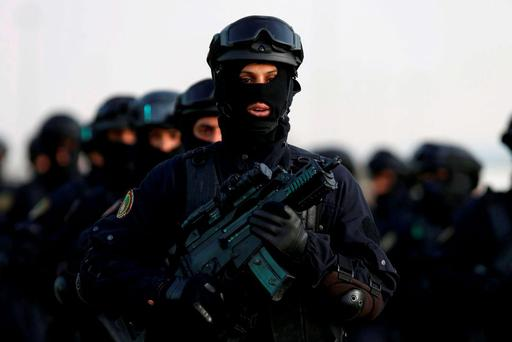 Members of Saudi special forces march during a graduation ceremony held in Riyadh. Photo: Reuters