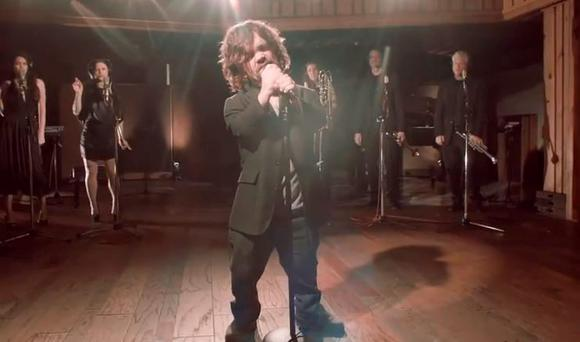 Peter Dinklage singing as part of Coldplay's Game of Thrones musical for Red Nose Day in the US