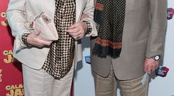 Gay Byrne and Kathleen Watkins at the opening night of Calamity Jane at The Bord Gais Energy Theatre,Dublin