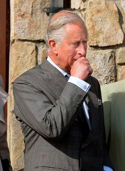 Prince Charles during the State visit to Ireland in 2015