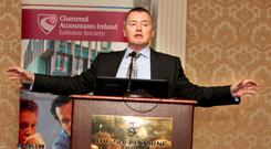 IAG chief executive Willie Walsh at the Chartered Accountants Leinster Society's lunch in the Shelbourne Hotel yesterday. Picture: Tom Burke