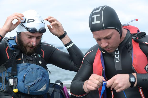 David Burns and Maghnus Collins who are about to attempt to swim 1,600KM around Ireland