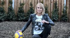 Republic of Ireland soccer player Stephanie Roche. The former Houston Dash player has a week-long trial at the Boston Breakers.