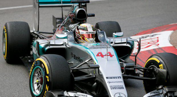 Mercedes Formula One driver Lewis Hamilton of Britain drives during the first practice session of the Monaco Grand Prix in Monaco May 21, 2015