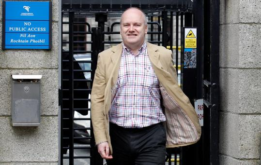 Cormac Walsh, of Bridewater Quay, Arklow, Co. Wicklow, pictured leaving the Four Courts after a HIgh Court action. Pic: Courts Collins