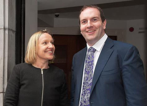 Lucinda Creighton with James Charity, who will stand for Renua in Galway West at the next election. Photo: Andrews Downes