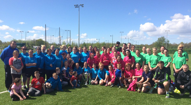 Participants in the 'Mother of all Tag' rugby tournament