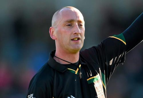 Referee John Keenan was leaving the pitch after the game involving neighbours Stratford-Grangecon and Baltinglass when a spectator approached him and allegedly head-butted him in the face