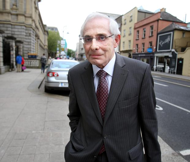 John Hurley, former Governor of the Central Bank, arrives at Dáil Éireann to testify before the Banking Inquiry. Photo: Tom Burke