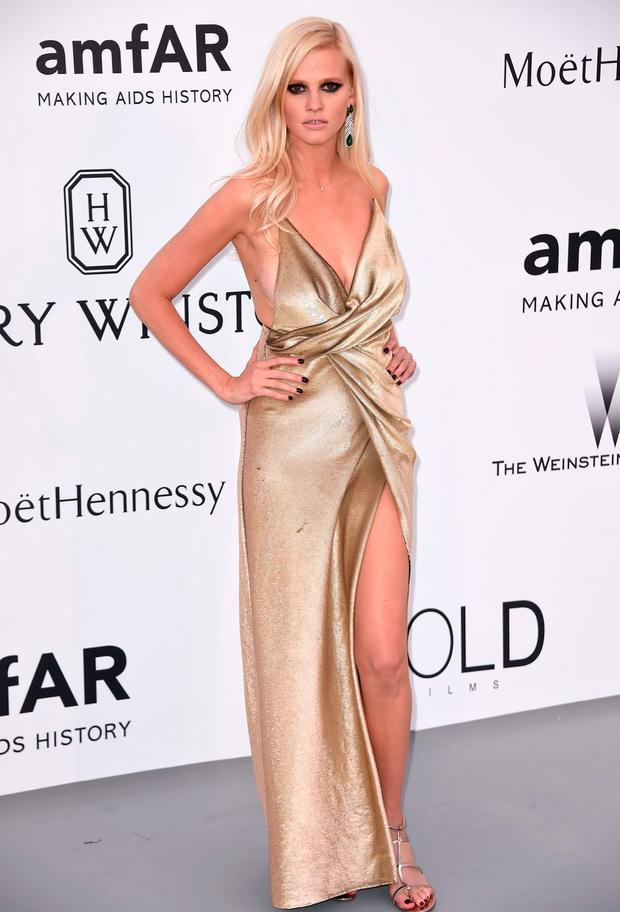 Model Lara Stone attends amfAR's 22nd Cinema Against AIDS Gala, Presented By Bold Films And Harry Winston at Hotel du Cap-Eden-Roc on May 21, 2015 in Cap d'Antibes, France. (Photo by Ian Gavan/Getty Images)