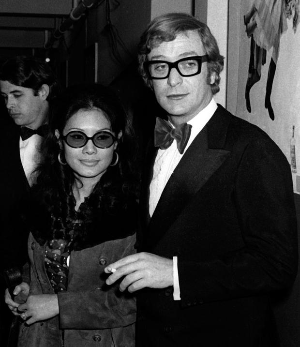 Michael Caine and wife Shakira Caine attend 24th Annual Tony Awards on April 19, 1970 at the Mark Hellinger Theater in New York City. (Photo by Ron Galella, Ltd./WireImage) *** Local Caption *** Michael Caine;Shakira Caine