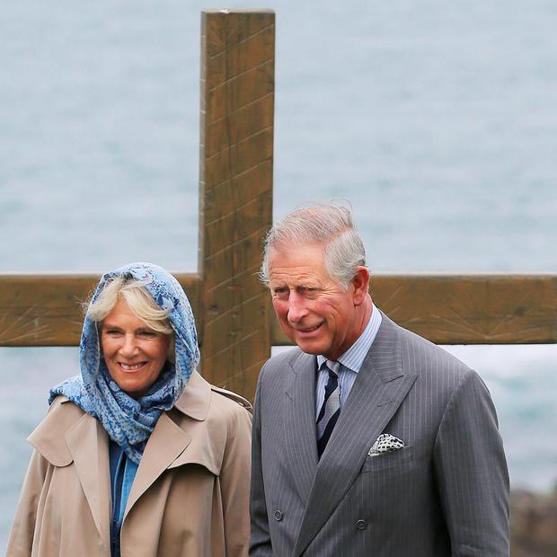 The Prince of Wales and the Duchess of Cornwall during a visit to the Corrymeela Centre in Ballycastle Co Antrim