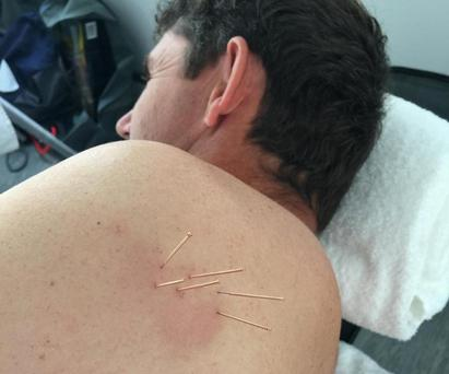 Padraig Harrington on the recovery table today