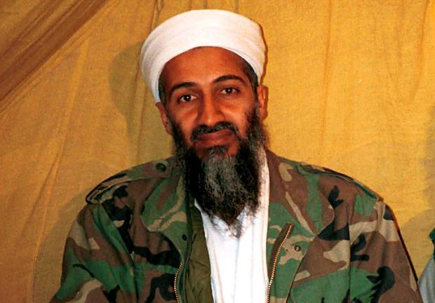 Osama Bin Laden, ex-leader of the al-Qa'ida terror group which was responsible for the 9/11 attack on the US