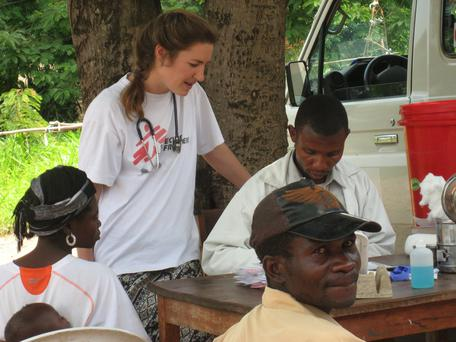 Dublin doctor Niamh Allen with MSF in South Sudan