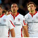 22 May 2015; Dejected Ulster players after the game. Guinness PRO12 Play-Off, Glasgow Warriors v Ulster, Scotstoun Stadium, Glasgow, Scotland. Picture credit: Craig Williamson / SPORTSFILE