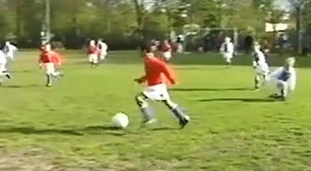 Memphis Depay in action as a seven-year-old