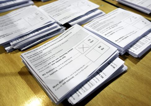 Ballot papers the Marriage Equality Referendum