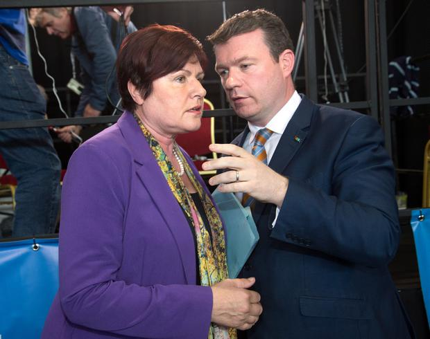 Labour minister Anne Phelan, pictured alongside party colleague Alan Kelly, has broken ranks with the party leadership and is calling for strong consideration to be given to a joint manifesto with Fine Gael ahead of the general election