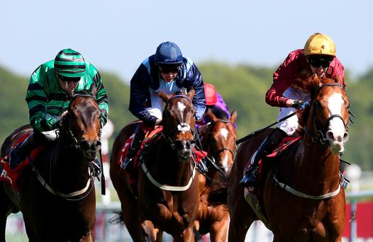 Pearl Secret ridden by George Baker (Gold Cap) wins the Temple Stakes at Haydock
