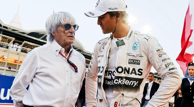 Bernie Ecclestone has told Nico Rosberg: 'You're not good for business' Photo: EPA