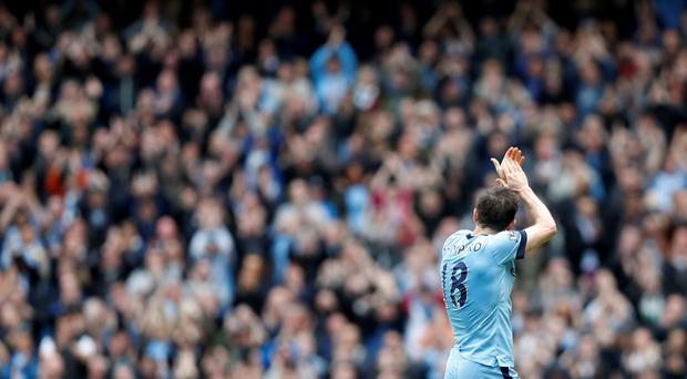 Manchester City's Frank Lampard applauds fans as he is substituted Action Images via Reuters / Carl Recine Livepic