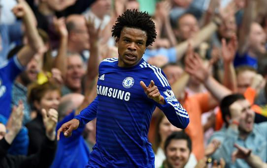 Loic Remy celebrates after scoring the third goal for Chelsea Reuters / Dylan Martinez Livepic