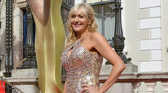 Miriam O'Callaghan arrives on the red carpet for the IFTA Film and Drama Awards at the Mansion House in Dublin, Ireland on Sunday 24 May 2015. Photo credit: Barbara Lindberg.