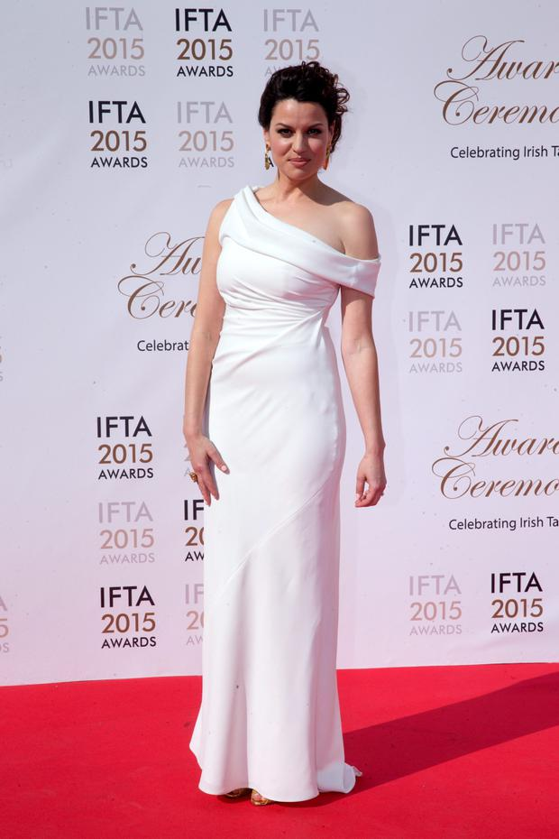 24/5/15 Caroline Morohan pictured on the red carpet at the IFTA Awards at the Mansion House in Dublin. Picture: Arthur Carron