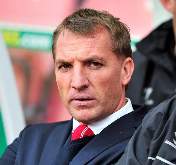 Brendan Rodgers can't hide his frustration as Liverpool slump to a heavy defeat at Stoke