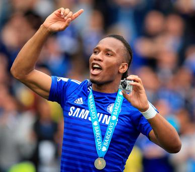 Didier Drogba captained Chelsea in his final game for the club and was later given an unprecedented send-off from his teammates