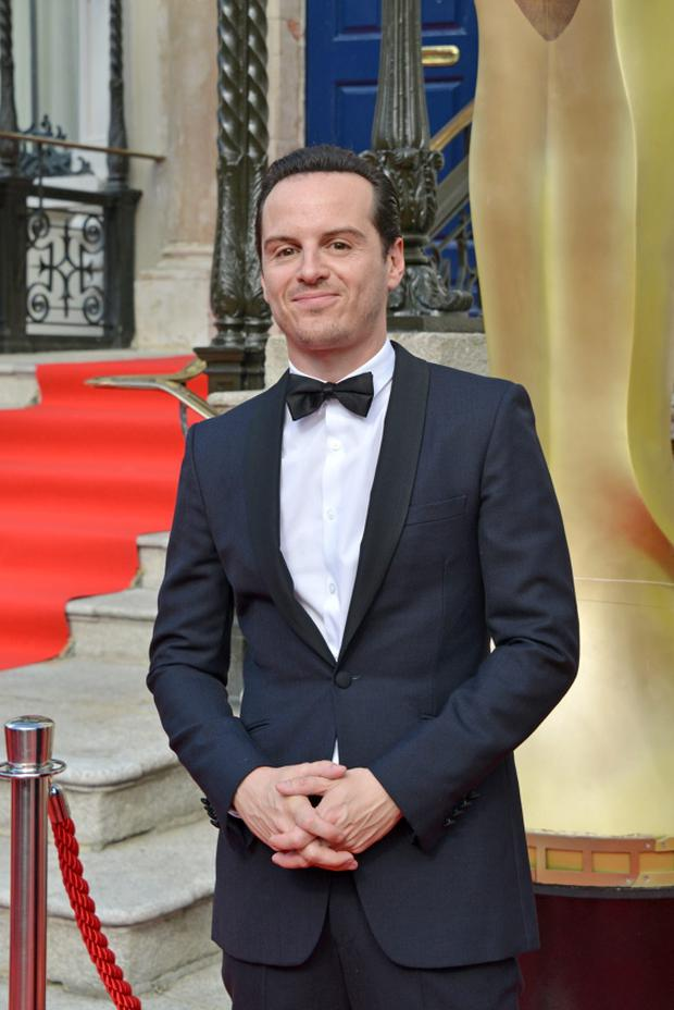 Actor Andrew Scott from Sherlock arrives on the red carpet for the IFTA Film and Drama Awards at the Mansion House in Dublin, Ireland on Sunday 24 May 2015. Photo credit: Barbara Lindberg.