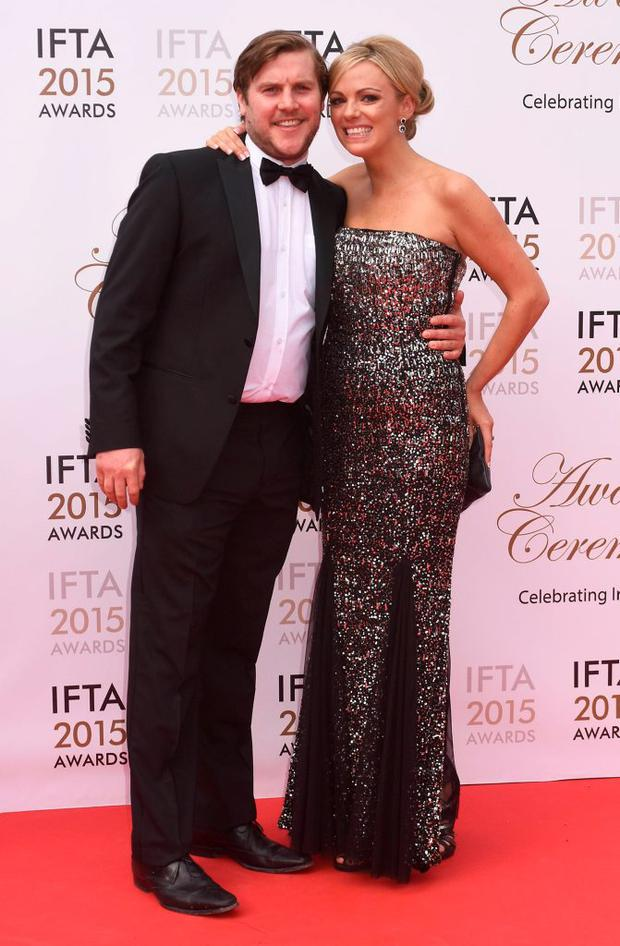 Peter Coonan, Kim O'Driscoll at the IFTA Awards 2015 at The Mansion House