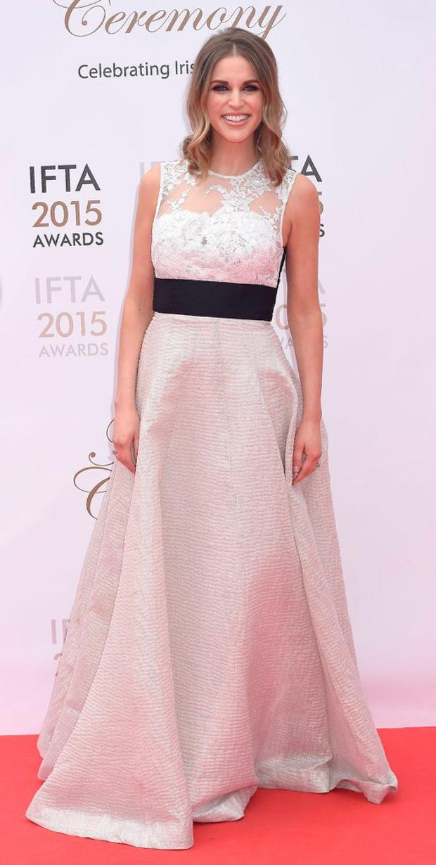 Amy Huberman at the IFTA Awards 2015 at The Mansion House