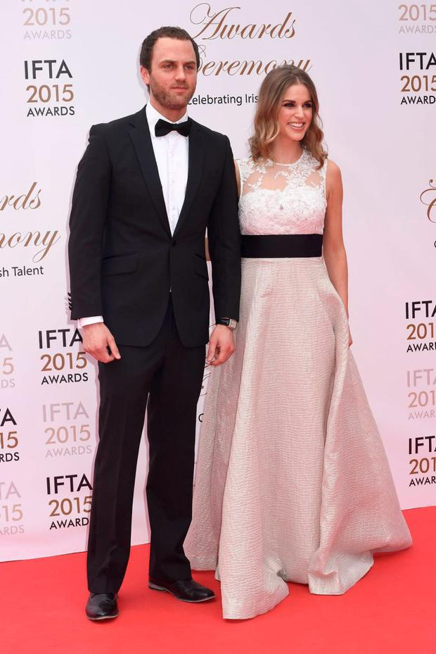 Mark Huberman, Amy Huberman at the IFTA Awards 2015 at The Mansion House