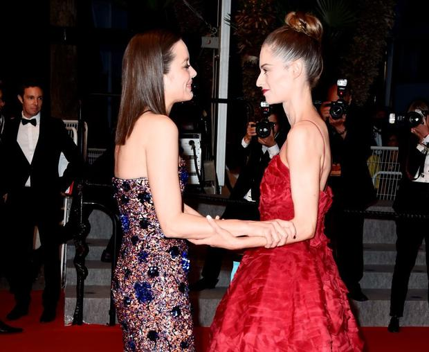 Marion Cotillard and Madeline Mulqueen depart the